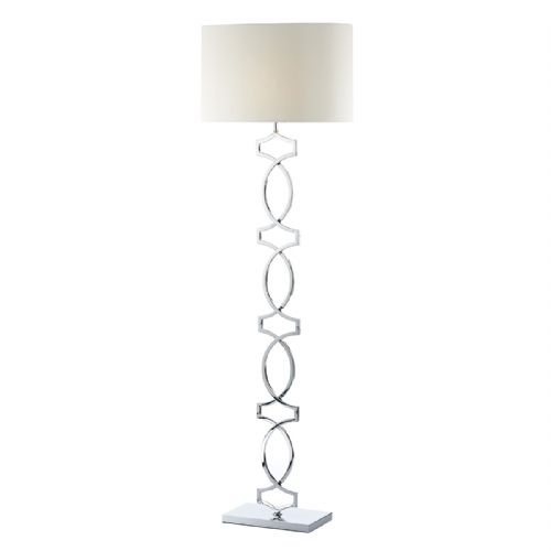Donovan Floor Lamp Polished Chrome complete with Shade DON4950